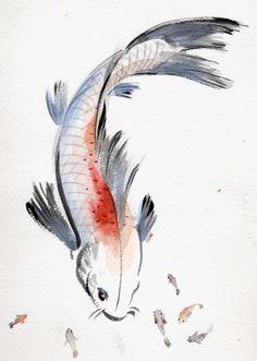 Chinese Ink Brush Painting New York, NY #Kids #Events Koi Art, Fish Art, Sumi E Painting, Chinese Brush, Chinese Art, Drawings Of Fish, Koi Fish Drawing, Japanese Drawings, Japanese Koi