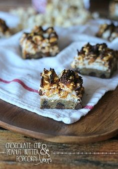 Chocolate Chip and Peanut Butter Popcorn Bars from @Shelly Jaronsky (cookies and cups)