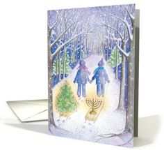 Interfaith Holiday Sleds | Greeting Card Universe by MixedBlessings