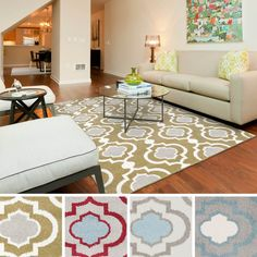 "Meticulously Woven Ianca Transitional Geometric Area Rug (5'3"" x 7'3"") - Overstock™ Shopping - Great Deals on 5x8 - 6x9 Rugs"