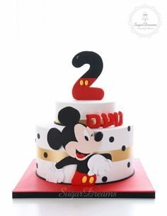 Mickey Mouse cake cakes for kids big and small Bolo Mickey E Minnie, Theme Mickey, Fiesta Mickey Mouse, Mickey Mouse Bday, Mickey Cakes, Minnie Mouse Cake, Mickey Birthday, Mickey Party, Cake Birthday
