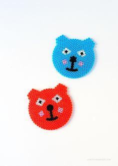 bead bear coasters diy