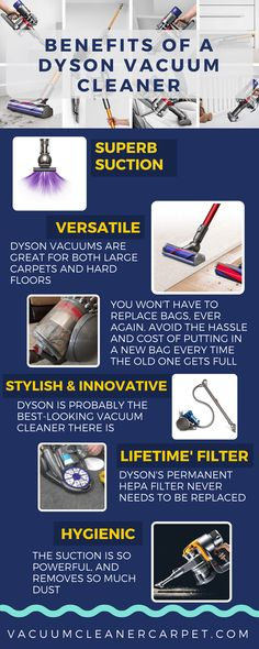 In this infographic I have described the advantages of Dys - Dyson Vacuum - Ideas of Dyson Vacuum - In this infographic I have described the advantages of Dyson vacuum cleaners are versatile robust hygienic stylish innovative etc.