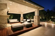 such a great outside living room-so comfy looking!