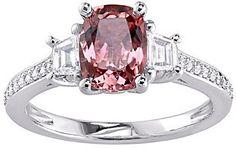 QVC 1.55 ct Pink Tourmaline & 3/4 cttw Diamond Ring, 14K