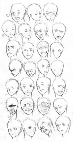 Facial Expressions I by ~YuuyuMori on deviantART