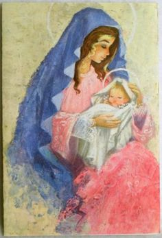 75 Best Christ Baby Jesus Vintage Christmas Cards Images
