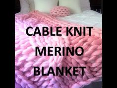 How to arm knit a Merino wool blanket with BeCozi: casting on - YouTube