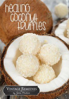 The Vintage Remedies Blogazine | Healing Coconut Truffles