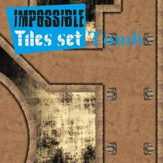 Impossible Tiles Set: Tomb | Tile-able dungeon set for all possible combinations. Remember: rotate, reflect, assemble all pieces with your imagination.  https://marketplace.roll20.net/browse/set/873/impossible-tiles-set-tomb