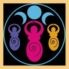 Triple Spiral Goddesses