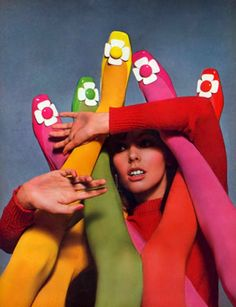 the60sbazaar:  Colourful Sixties shoes captured by Guy Bourdin