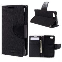 Sony Xperia Z5 Compact musta puhelinlompakko.