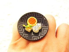 Traditional Japanese Food Ring Tofu Rice by SouZouCreations, $15.00