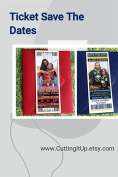 Calling all Sports Fans! Are you getting married and looking for a neat way to integrate your favorite team into your Save the Dates? All of my Save the Date designs are available as printed tickets, printed magnets or a DIY digital Printable Template. I look forward to designing something just for you and your All Star at CuttingItUp.etsy.com Softball Wedding, Basketball Wedding, Sports Wedding, Ticket Invitation, Invitations, Printed Magnets, Save The Date Designs, Getting Married, Dates