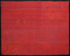 STRIPED MANTLE Proto-Nasca Culture - South Coast of Peru 0 - 200 AD Camelid Wool Yarns and Natural Dyes 44 1/2 x 55 in.