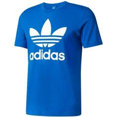adidas Men's Originals Trefoil T-Shirt ($28) ❤ liked on Polyvore featuring men's fashion, men's clothing, men's shirts, men's t-shirts, mens t shirts, adidas mens shirts and adidas mens t shirt