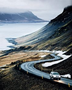 """_AlexChristopherFleming on Instagram: """"Would you work a job on the other side of the valley if your commute looked like this thanks @nikon_photography_ for driving like a champ through Iceland. #photography #sony #sonya7r #sonyimages #mitsubishi #motor #transport #car #4x4 #fjords #iceland #explore #travel #adventure #chilled #vibes #vsco #instagram #instadaily #mountains #sea #mist #clouds #snapseed #awesome #love"""""""