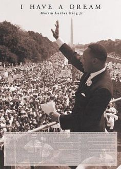 I Have A Dream...inspirational speech. Means so much to so many....except Republicans