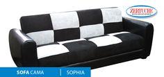 Sofa/cama Sophia  En estilo moderno en tapíz microfibra.  ¡Adquiérelo a 6 meses con tarjeta de crédito!   #MueblesDeCalidad