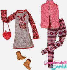 Bueno aquí están los nuevos packs o sets de moda de Barbie 2015 estan los sets que traen vestidos camisas y pantalones y zapatos y los que...