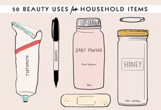 50 Brilliant Beauty Uses for Common Household Items