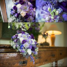Bridal Bouquet | Purple and blue wedding flowers | Lucy Schultz Photography