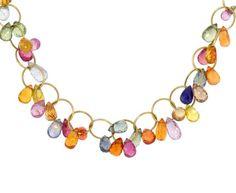 Mallary Marks  Multi-Sapphire Briolette Necklace