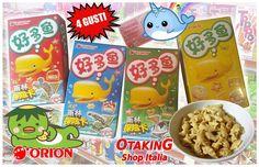 ORION Seafood Crackers! Snack salati kawaii disponibili in 4 diversi gusti! Per info e per acquistarli clicca qui--> https://www.facebook.com/otakingshopitalia/photos/a.647169645413188.1073741836.643117879151698/756805481116270/?type=3&theater Consegne gratuite su ROMA o spedizioni tracciate in tutta Italia!