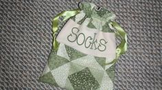 String bags/ personalized string bags/ Gift bags by KidsAtelier, $15.50