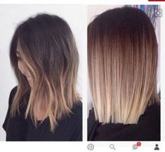 Hair Color And Cut, Haircut And Color, Ombre Hair Color, Hair Color Balayage, Ombre Short Hair, Medium Balayage Hair, Blonde Balayage, Short Hair With Balayage, Blonde Ombre Hair Medium