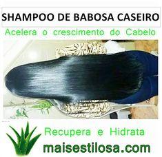 Óleo de Babosa Caseiro: Estimula o Crescimento dos Cabelos e Ajuda a Combater a Queda Beauty Care, Hair Beauty, Natural Shampoo, Good Hair Day, Afro Hairstyles, About Hair, Spa Day, Makeup Art, Hair Hacks