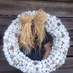 My huge cotton wreath! :)