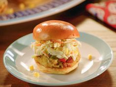 Crab-Boil Sliders with Homemade Coleslaw recipe from Valerie Bertinelli via Food Network