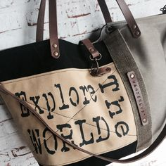 "Grand Cabas Yellow Ground ""Explore The World"" / SOben Store"