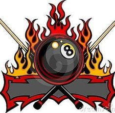 Billiards eight ball flaming vector. Flaming billiards eight ball with cue sticks vector template burning with fire flames. Cool Avatars, Free Avatars, Avatar Images, Pool Sticks, Ball Drawing, Art Icon, Stock Art, Vector Art, Eps Vector