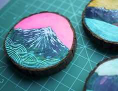 painting on wood blocks. good for wall art!