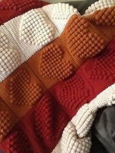 Crochet Heart Square - (Link to pattern: http://www.ravelry.com/patterns/library/full-heart-bobble-square)