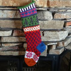 Hey, I found this really awesome Etsy listing at http://www.etsy.com/listing/160595019/hand-knit-christmas-stocking-with-plum