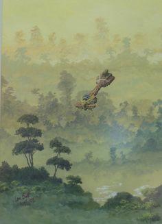Ian S Bott - Artwork - Misty Trees