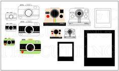 Polaroid and camera fun template set