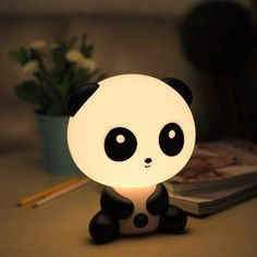 panda nightlight that is basically the cutest thing ever. A panda nightlight that is basically the cutest thing ever. Panda Love, Cute Panda, Panda Panda, Cute Night Lights, Baby Room Lighting, Cutest Thing Ever, Room Lights, Kid Beds, Cool Gadgets