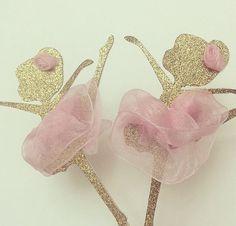 Ballerina Cupcake Toppers von bloomingdaisydesign auf Etsy