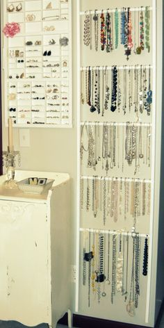 11 diy necklace storage ideas necklace storage diy necklace and find this pin and more on fab do it yourself tips ideas stuff by happyppl solutioingenieria Choice Image