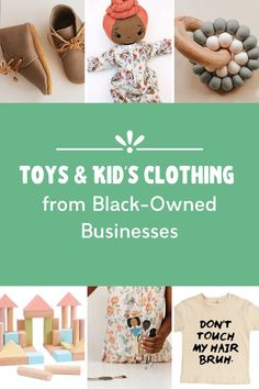 Are you looking to support Black-owned businesses along with diversifying your children's toy collection? Here are our favorite shops! Eco Baby, Baby Co, Toddler Gifts, Baby Gifts, Best Toddler Shoes, Abc For Kids, Indoor Activities For Kids, Baby Hacks, Baby Sleep