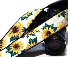 Sunflowers Camera Strap. SLR DSLR Camera Strap. Gift for Her.