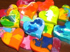 Elyse's beautiful melted heart crayons