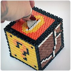 40 DIY Gift Surprise Ideas for a Gamer Boyfriend or Girlfriend – Build a Mario Bros Bank Yourself for Your Gamer Guy – 40 DIY Gift Surprise Ideas f… - diy gifts for boyfriend, handmade gift ideas for friends, giftcraft, unique gifts diy, handmade gift ide Perler Bead Designs, Diy Perler Beads, Pearler Bead Patterns, Perler Patterns, Loom Patterns, Hamma Beads 3d, Peler Beads, Fuse Beads, Gamer Boyfriend