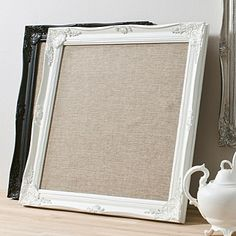 Hessian memo board - I want one for the kitchen!