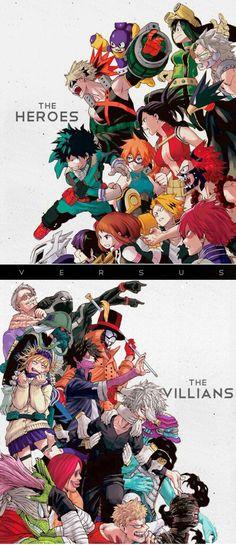 The Heroes The Villains text My Hero Academia characters cool uniforms outfits suits My Hero Academia Anime Meme, Manga Anime, Anime Pro, Anime Tumblr, Fanarts Anime, Anime Chibi, Anime Villians, Anime Naruto, Boku No Hero Academia